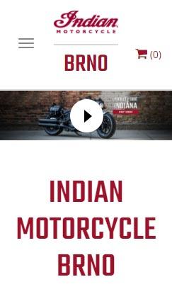 Resposnive webdesign - Indian Motorcycles Brno